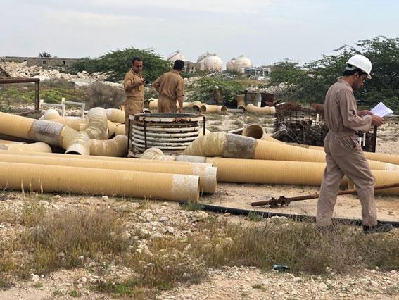 بازرسی از اقلام موجود در انبار شرکت نفت فلات قاره ، بمنظور بکارگیری از آنها در تعمیرات اسکله